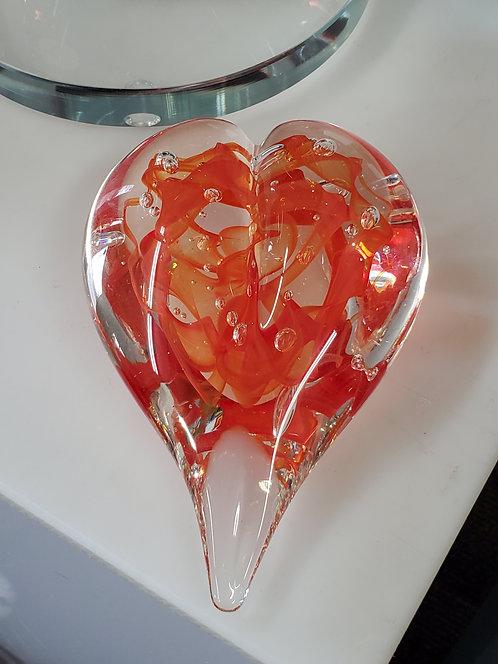 Freeform Orange Heart