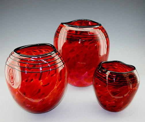 Red Bowl Set
