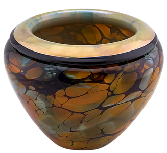 Gold Lipped Terra Bowl