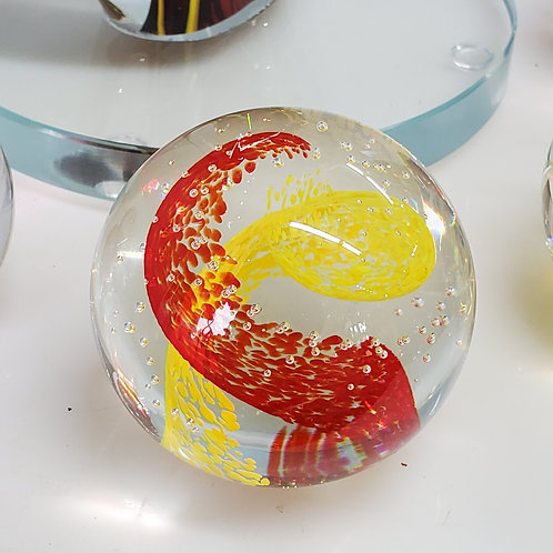 "Red & Yellow Two Color 3"" Sphere"