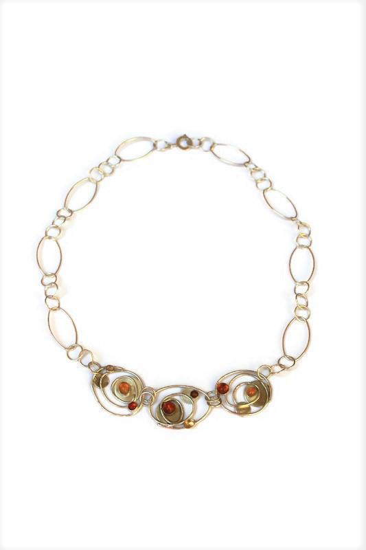 Orbit necklace - oranges -  by Mogg Robi