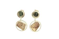 Moss agate and golden rutilated quartz s