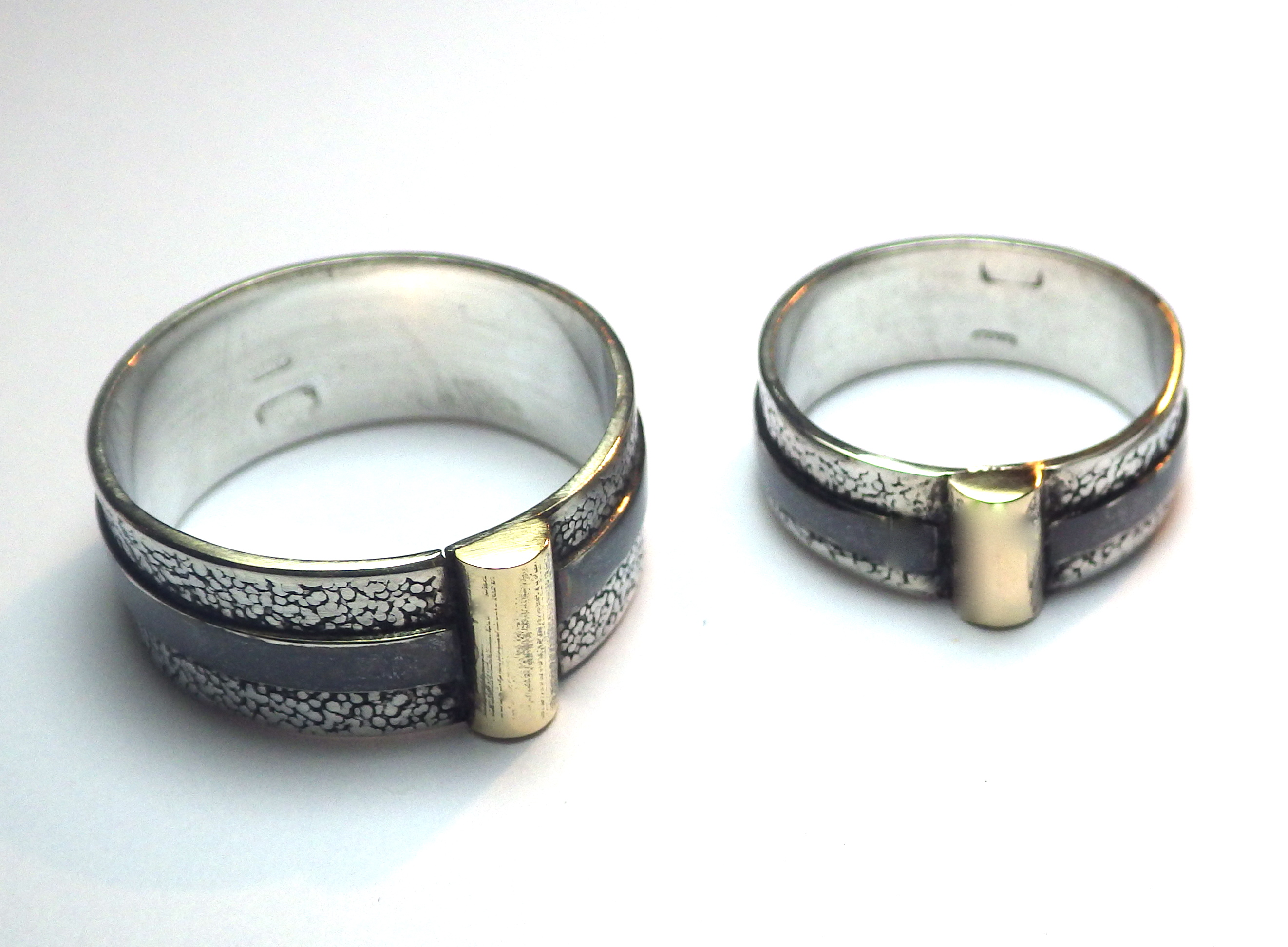 Geo Rings with Gold