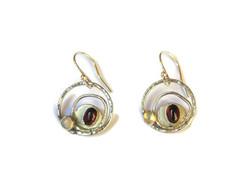 Sterling silver orbit earrings with garn