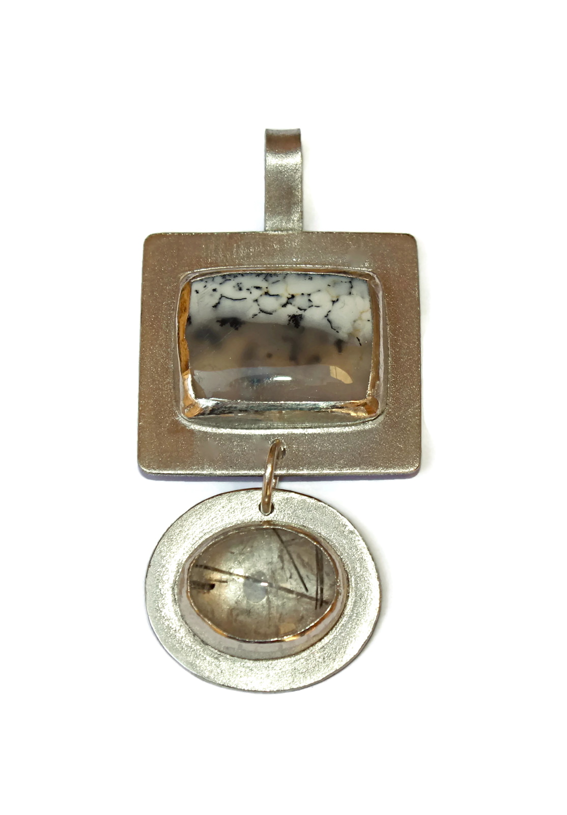 Inclusions Double Pendant