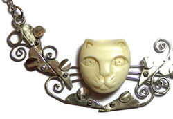 Detail of Cat and Mouse Collar