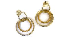 2 colour double hoop earrings