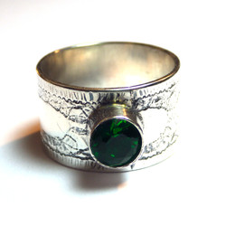 Patterned Stone Ring