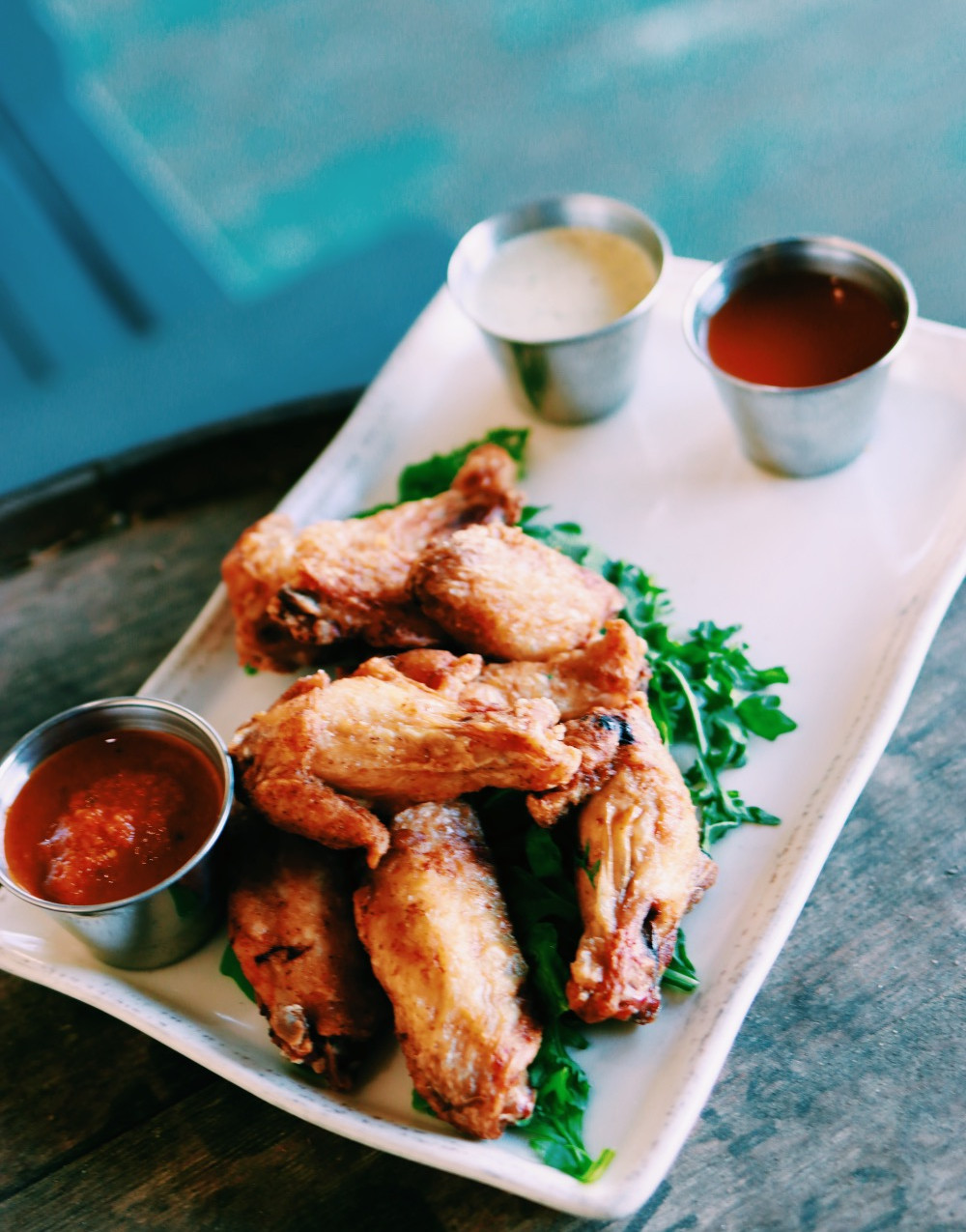 chicken wings with house sauces