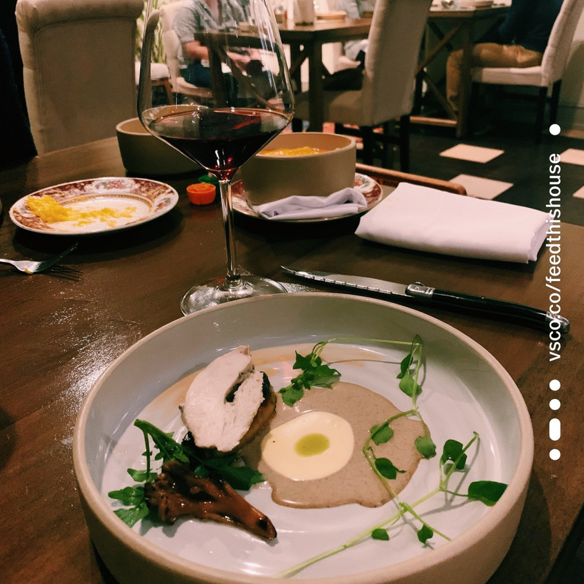 Poached Chicken Breast and Foie Gras