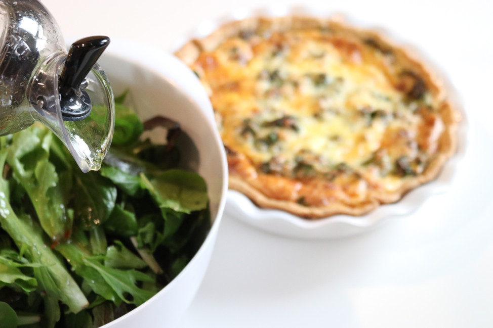 Sweet Potato, Kale and Bacon Quiche