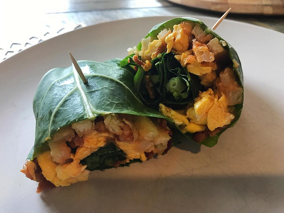 Collard Wrap Breakfast Burrito