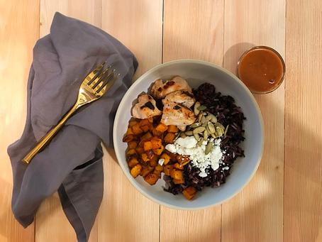 Black Rice w/ Harissa Roasted Butternut Squash