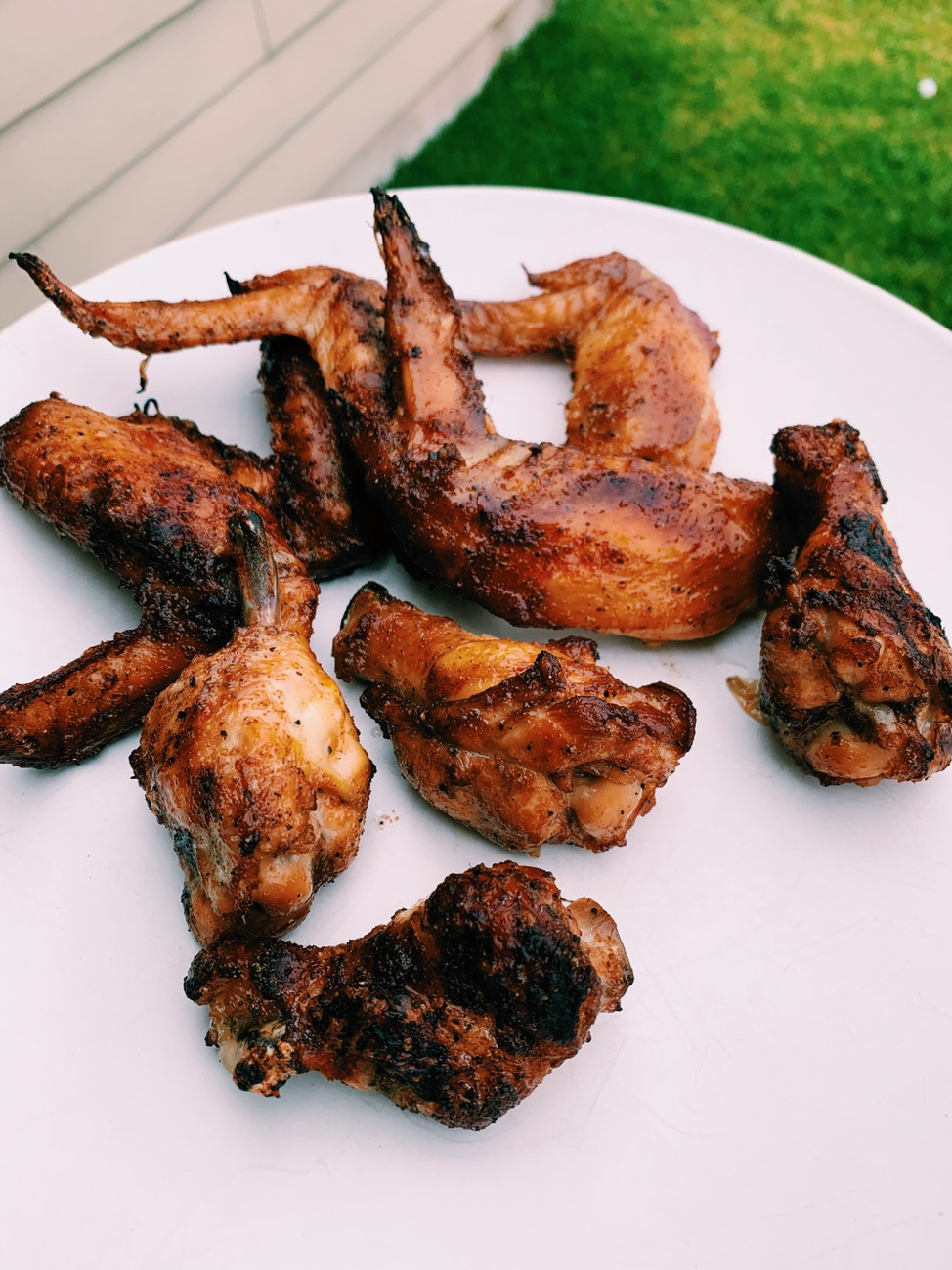 Baked + Grilled Chicken Wings