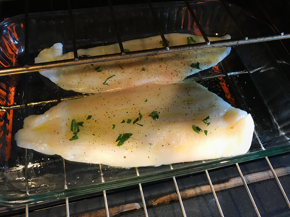 turbot filets in the oven
