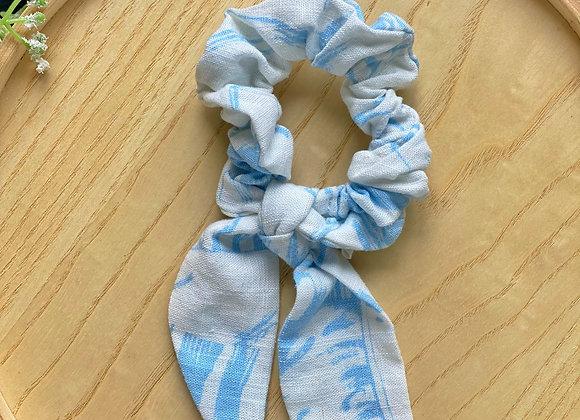 Blue Palm Scrunchie