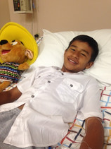 Riva, a young boy who underwent a tendon transfer to improve his gait.