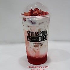 Strawberry with Fresh Milk (24oz)
