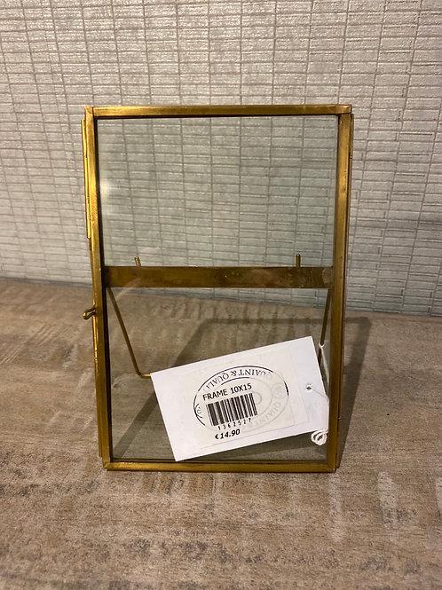 Brass frame 10x15cm