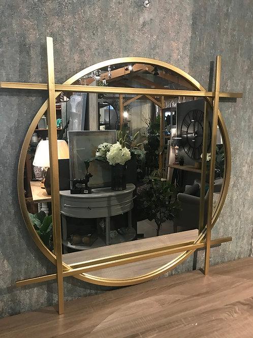 Gold round/square mirror