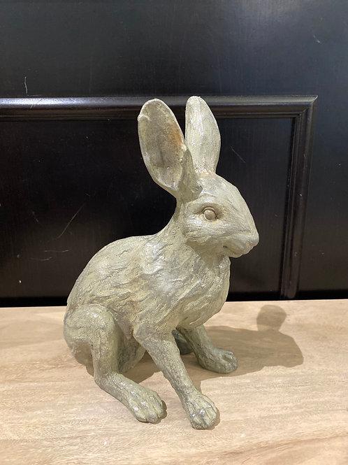 Grey resin rabbit
