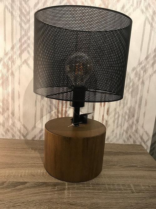 Mesh metal & wood lamp