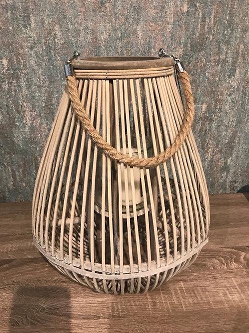 Wicker lantern Lrg
