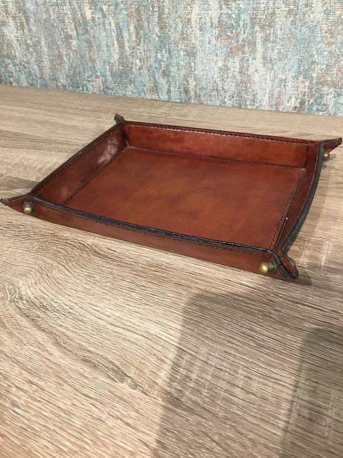 Large leather tray
