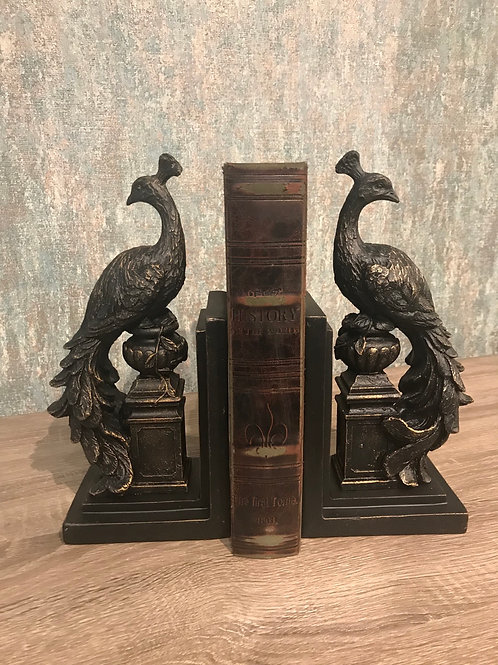 Standing Peacock Bookends