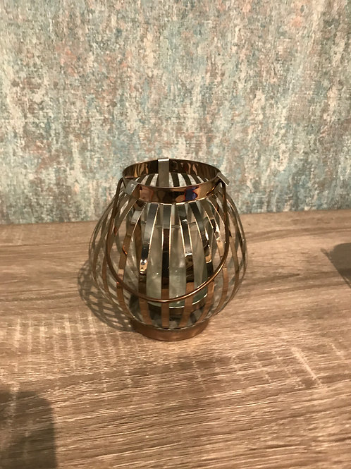 Copper teal light holder