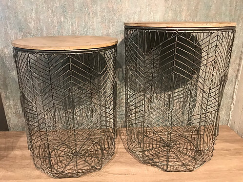 Wire side table set