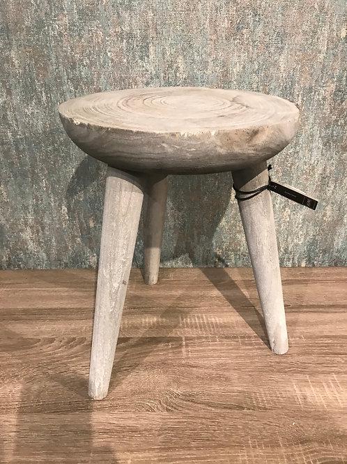 Wooden grey stool
