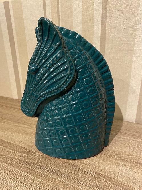 Jade ceramic horse head