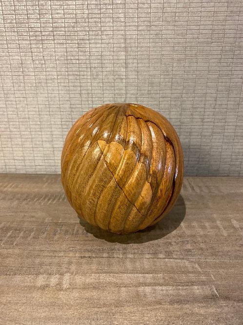 Wooden ball ornament
