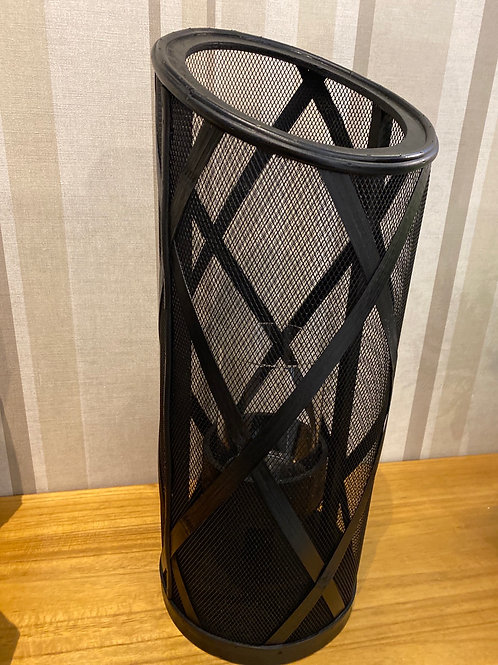 Black hurricane lantern large