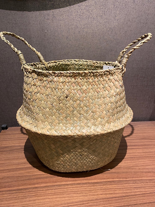Natural grass basket large