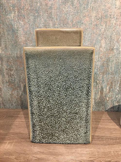 Ceramic square jar