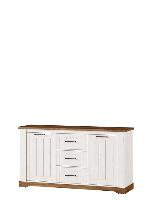 Country 2 Doors Sideboard with 3 Drawers