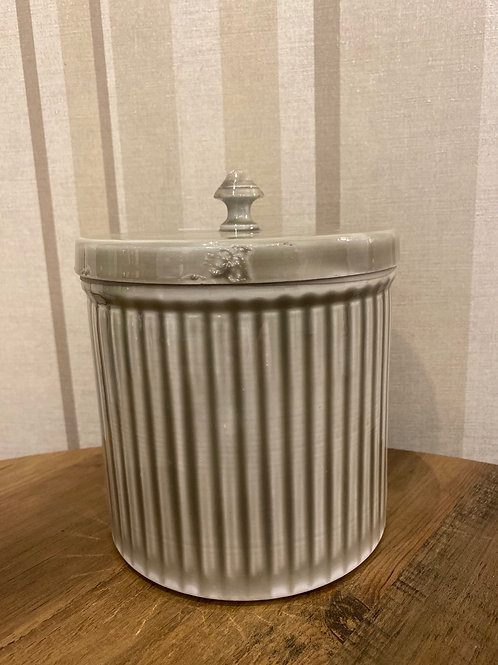Grey metal canister large