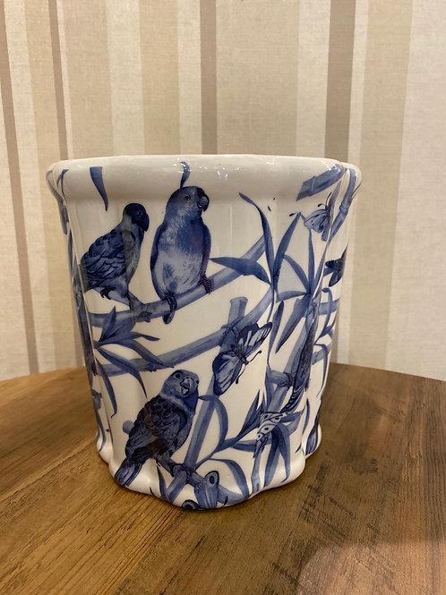 Blue bird pot large