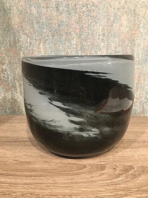 Blue glass pot