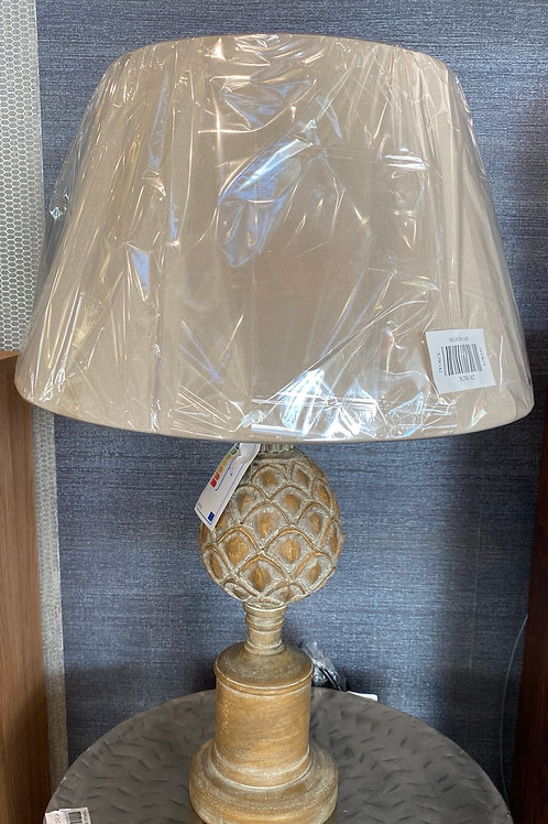 Wooden carved lamp