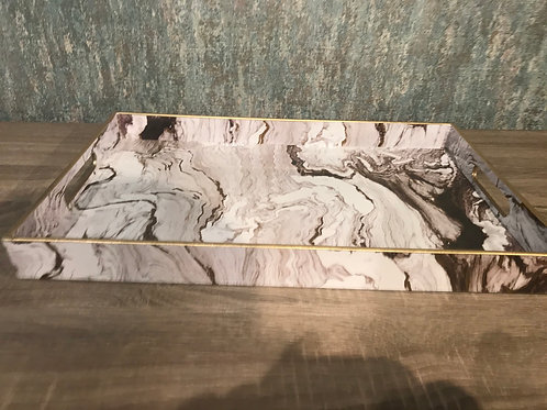 White Marble Effect Tray