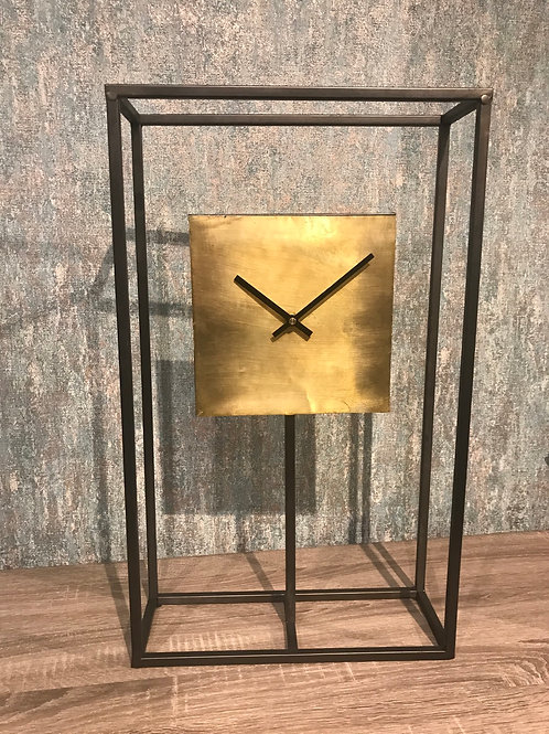 Black and Gold Square Clock