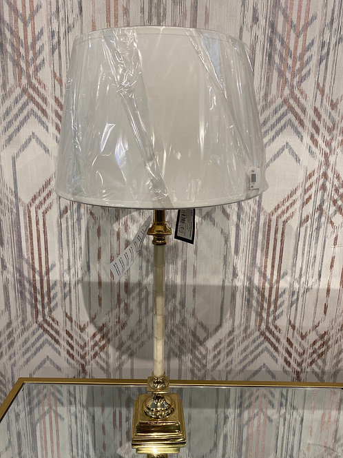 Brass and ivory detail lamp