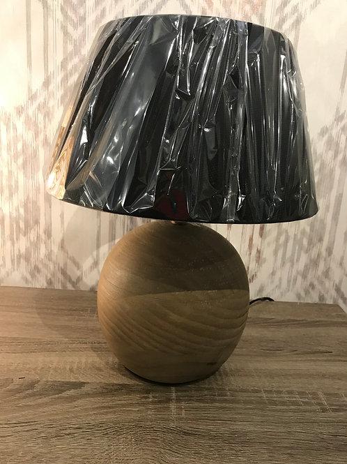 Wooden round lamp