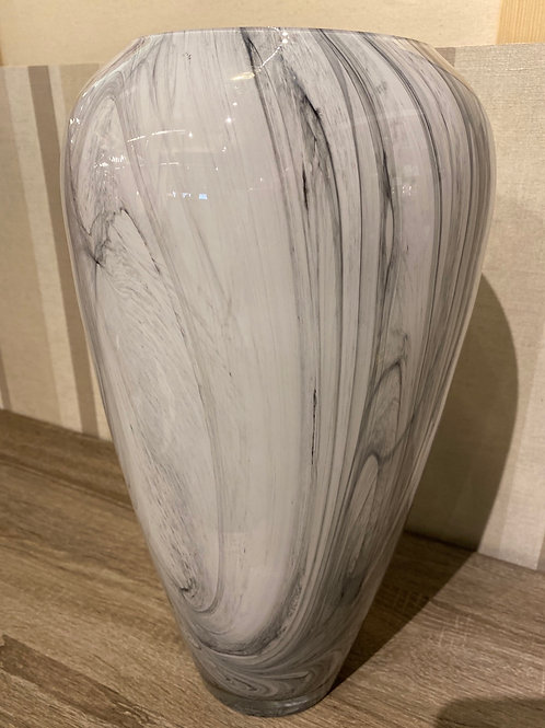 Glass marble eff vase
