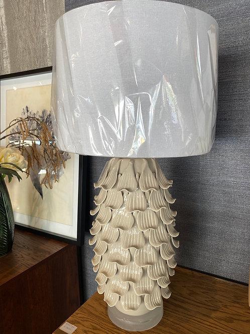 Grey leaf lamp
