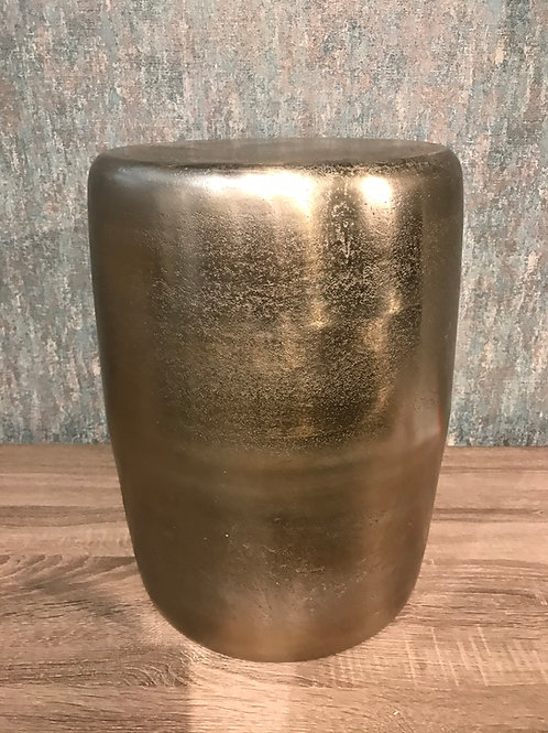 Gold ceramic stool