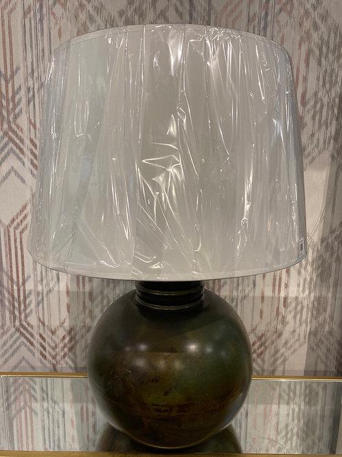 Brass round lamp